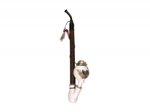 Gesteckpfeife Porzellan Kugel Jagdmotive sortiert ca.30cm