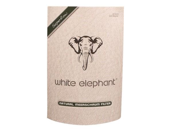 White Elephant Natur-Meerschaumfilter 9mm Box Inhalt 250 Fil