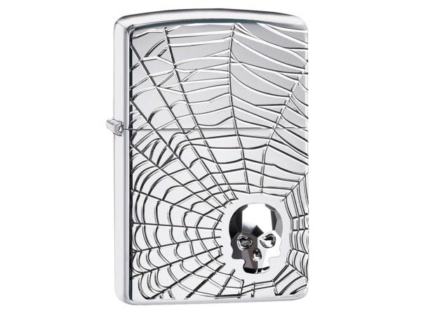 """Org.ZIPPO cr.pol. Emblem Armor Case """"Spider Web"""" 60004904"""