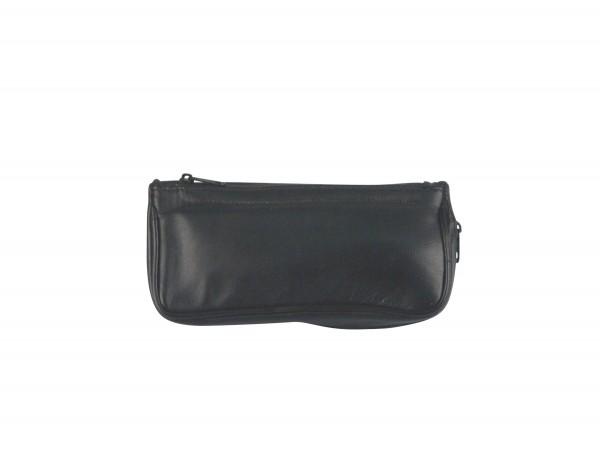 Pfeifentasche Leder schwarz 1er