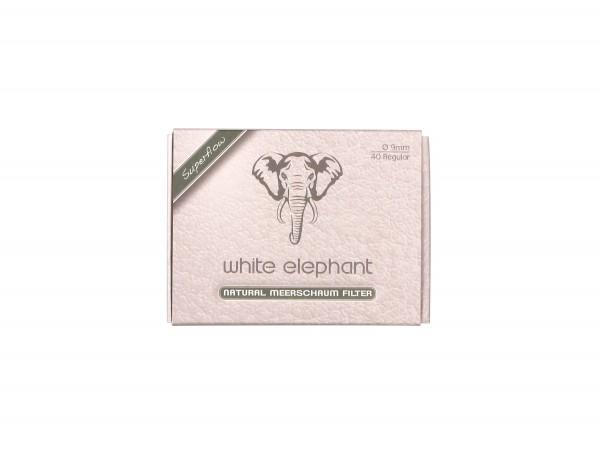 White Elephant Natur-Meerschaumfilter 9mm Box Inhalt 40 Filt