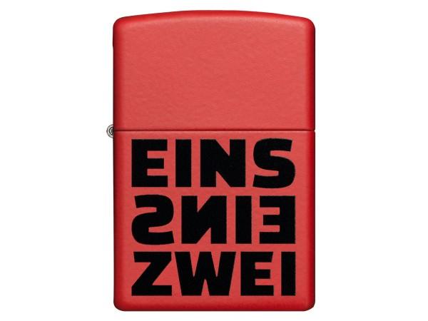 """Org.ZIPPO rot color """"Eins Eins Zwei"""" 60004809"""