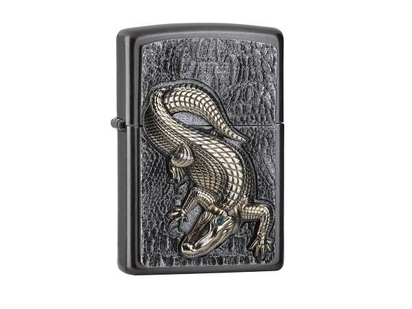 "Org.ZIPPO Grey Dusk Plakette ""Crocodile"" 2006315"