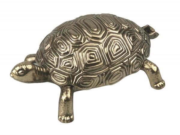 "Ascher ""Schildkröte"" Metall goldfarben 17cm"