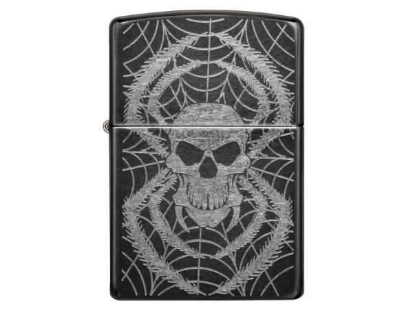 """Org.ZIPPO Grey Dusk """"Spider Skull"""" 60001003"""