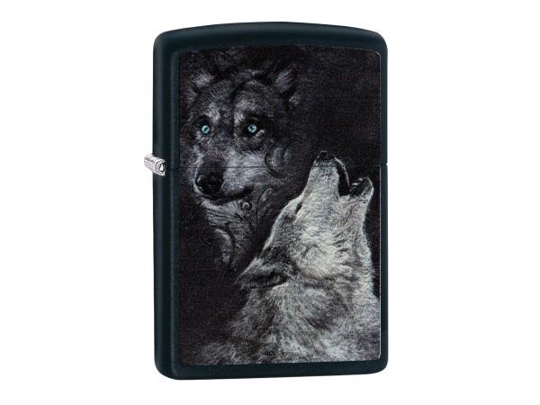 "Org.ZIPPO schwarz color ""Wolf"" 60002929"