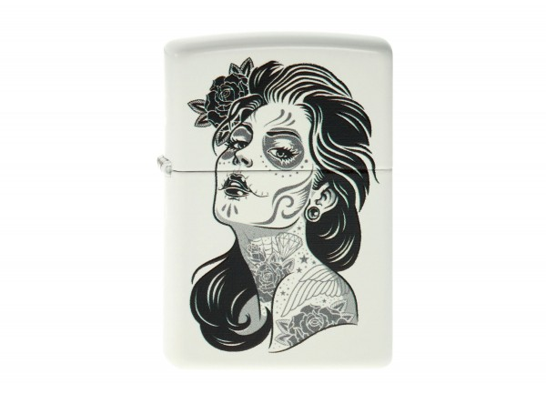 "Org.ZIPPO weiß color ""Day of Death 2"" 60001366"
