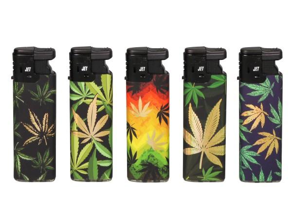 "LUX Mehrweg-Feuerzeug Turbo ""Cannabis"" sortiert"