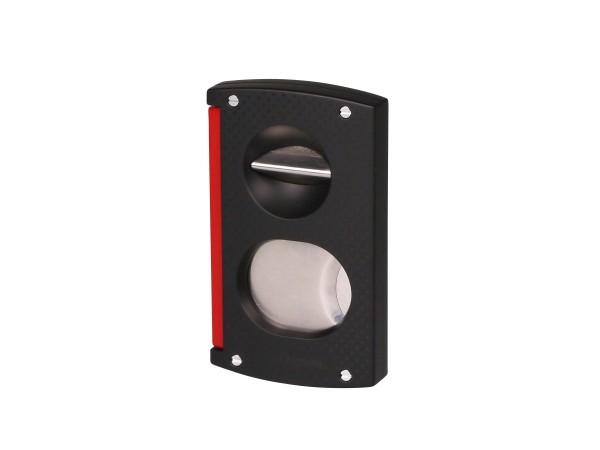 DUPONT Cig.cutter Doppelklinge + V-Cut schwarz/rot 03420