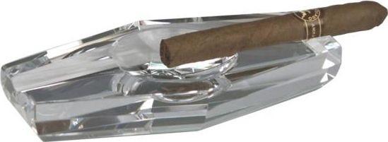 Zigarren-Aschenbecher Glas (Raute)