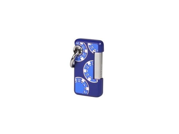 "HOOKED by Dupont ""Casin-o"" blau Pokerchips 032010 Jet"