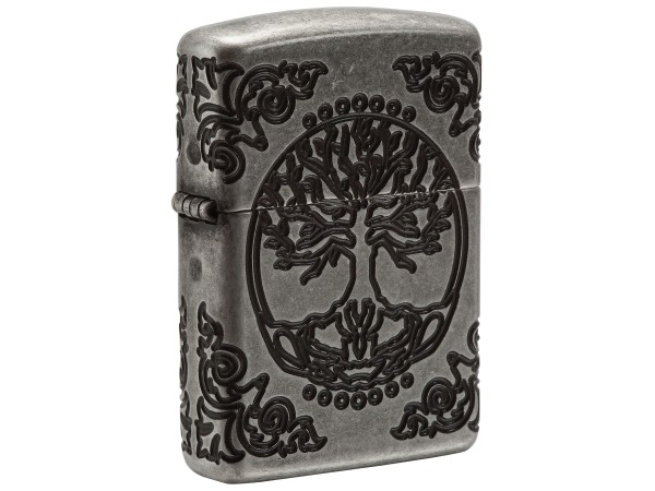 "Org.ZIPPO silber antik Armor Case ""Lebensbaum"" 60004303"