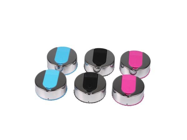 Taschenascher rund chrom poliert/farbig sortiert