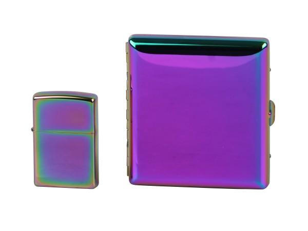 Org.ZIPPO + Zigaretten-Etui Rainbow/Spectrum