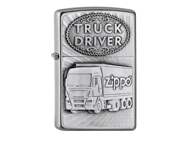 "Org.ZIPPO satin finish Plakette ""Truck Driver"" 2005895"