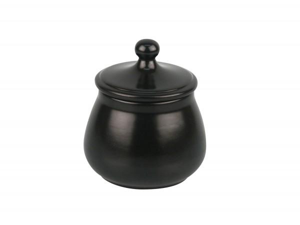 Tabaktopf Keramik schwarz/matt, für ca. 100g Tabak