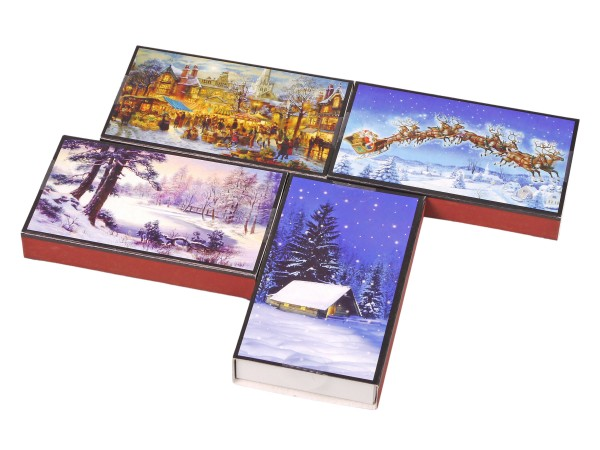 """Kaminhölzer """"Weihnachten II"""" sortiert Inh. ca. 45 Hölzer"""