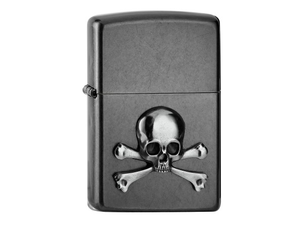 "Org.ZIPPO Gery Dusk Emblem ""Skull & Bones"" 2006515"