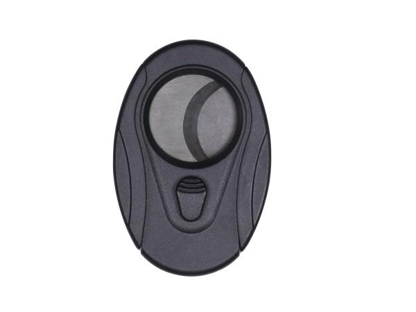 Cigarren-Abschneider oval schwarz 27mm Schnitt
