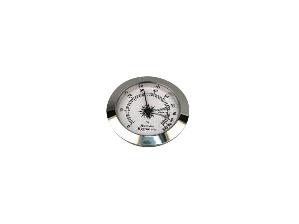 Hygrometer chrom Durchmesser 50mm, Einbaudurchmesser 45mm