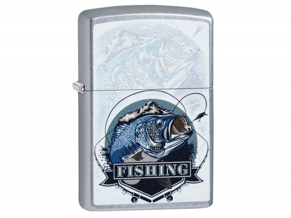 "Org.ZIPPO street chrome color ""Bass Fishing"" 60004184"