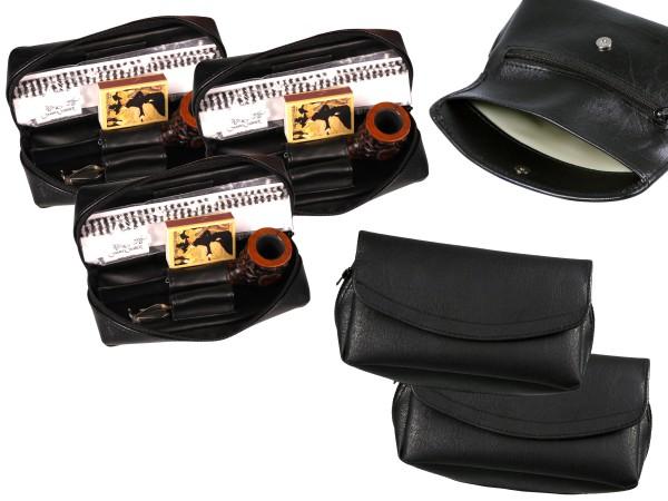 Pfeifen-Einsteiger-Set Lederoptik/Pfeifen rusik/panel Acrylm