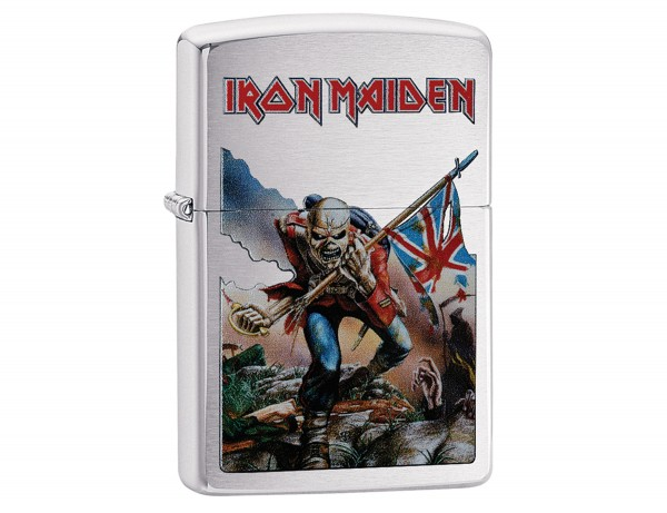 "Org.ZIPPO chrom geb. color ""Iron Maiden Flag"" 60003140"