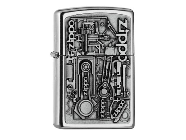 "Org.ZIPPO street cr. Plakette ""Motor Parts"" 2006539"