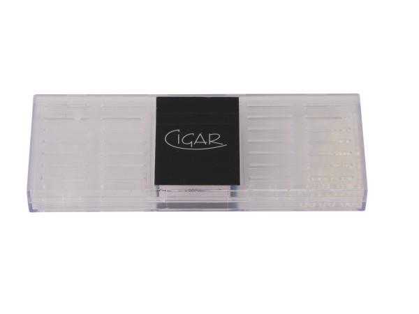 "Polymerbefeuchter ""Cigar"" eckig transparent für ca.50-100Cig"