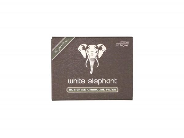 White Elephant Aktivkohlefilter 9mm Box Inhalt 40 Filter