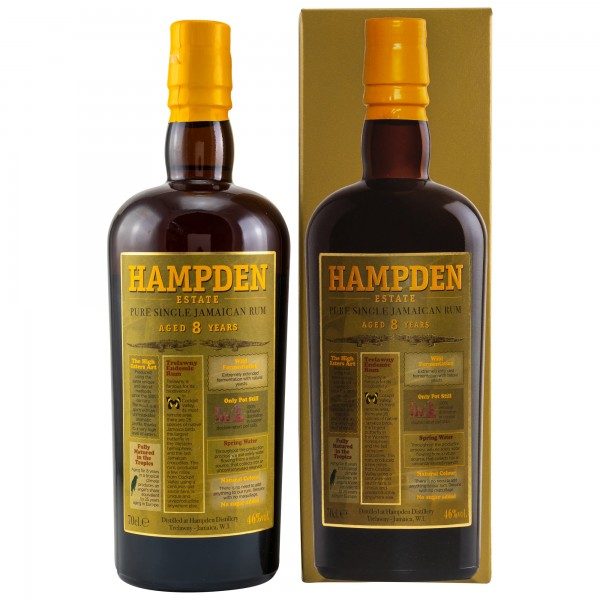 HAMPDEN ESTATE Pure Single Jamaica Rum 8 years