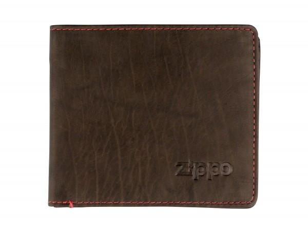 ZIPPO Herren-Geldbeutel Leder quer Mocca 2005118