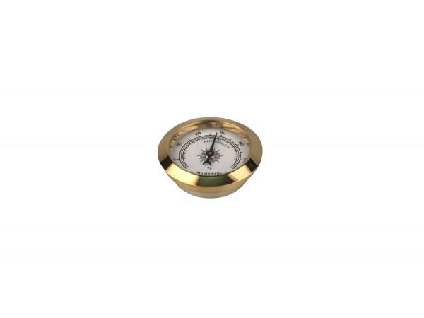 Hygrometer goldin Durchmesser 50mm, Einbaudurchmesser 36mm