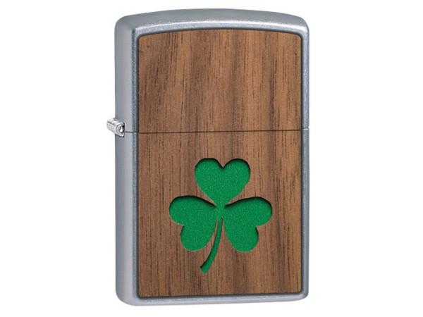 "Org.ZIPPO str. cr.""Wood Emblem Clover beidseitig"" 60004755"