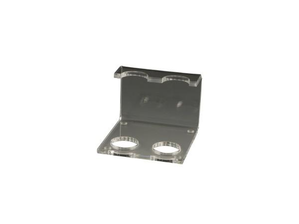 Pfeifenständer aus Acryl transparent 2er