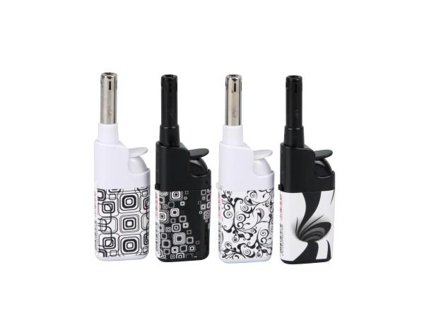 """ATOMIC Mini-Anzünder Piezo 10 cm """"Black + White"""" sortiert"""