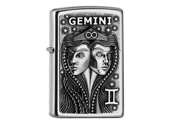 "Org.ZIPPO street chrome Plakette ""Gemini"" 2006503"