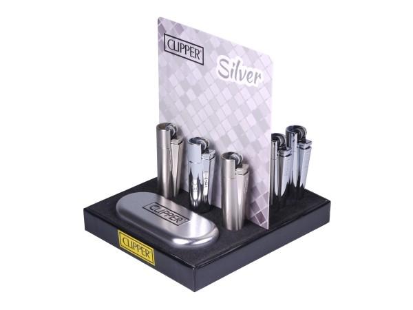 Clipper Feuerzeug Metall silber Sz