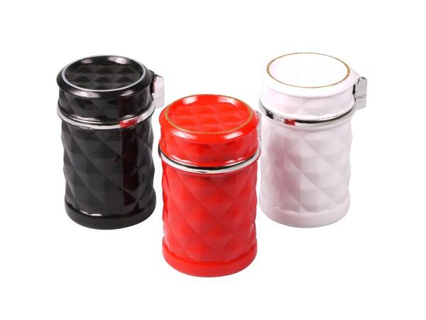 Ascher für Auto-Dosenhalter farbig sortiert mit LED Leuchte