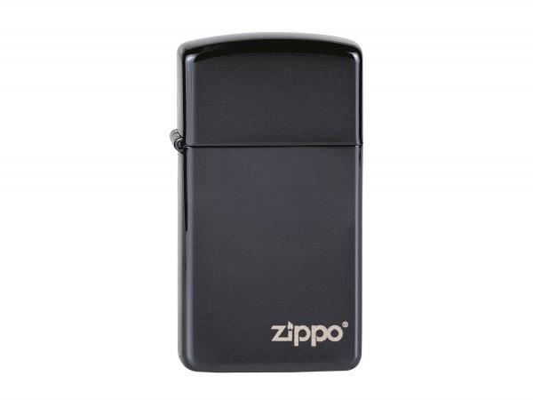 """Org.ZIPPO""""Slim"""" Ebony w. Zippo Logo"""" 60001264"""