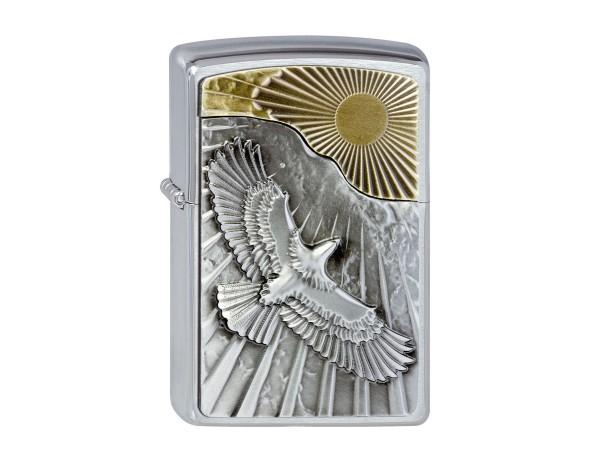 "Org.ZIPPO cr. geb. Plakette ""Eagle Sun Fly"" 2003192"