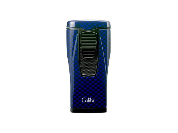 "COLIBRI Cigarrenfeuerzeug ""Monaco II"" Carbondesign blau"
