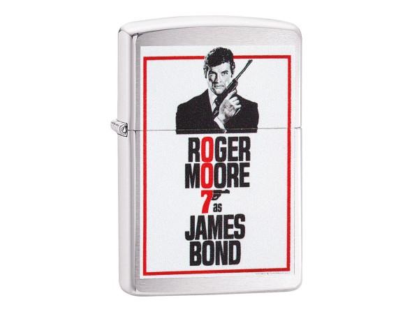 "Org.ZIPPO chrom geb. color ""James Bond Roger Moore"" 60003907"