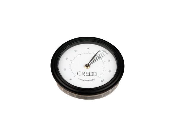 CREDO Hygrometer schwarz Durchmesser 55mm, Einbaudurchm.48mm