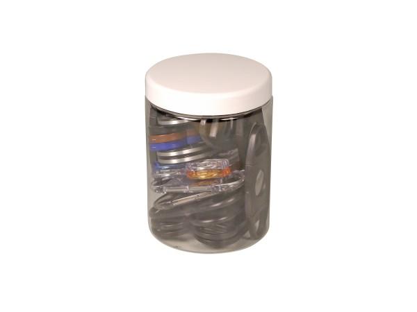 Cigarren-Abschneider Kunststoff sortiert in Kunststoffdose