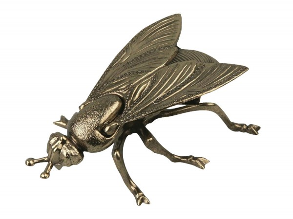 "Ascher ""Fliege"" Metall goldfarben 17cm"