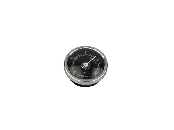 Hygrometer chrom Durchmesser 44mm, Einbaudurchmesser 38mm