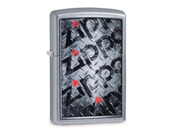"""Org.ZIPPO street chrom color """"Zippo Logo Metal"""" 60004585"""