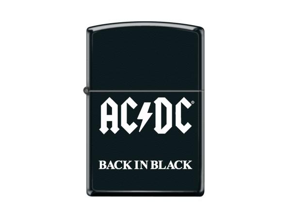 """Org.ZIPPO schwarz color """"AC-DC - Back in Black"""" 60004730"""
