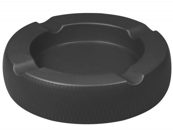 Passatore Cigarrenascher Keramik rund schwarz matt 4 Ablagen